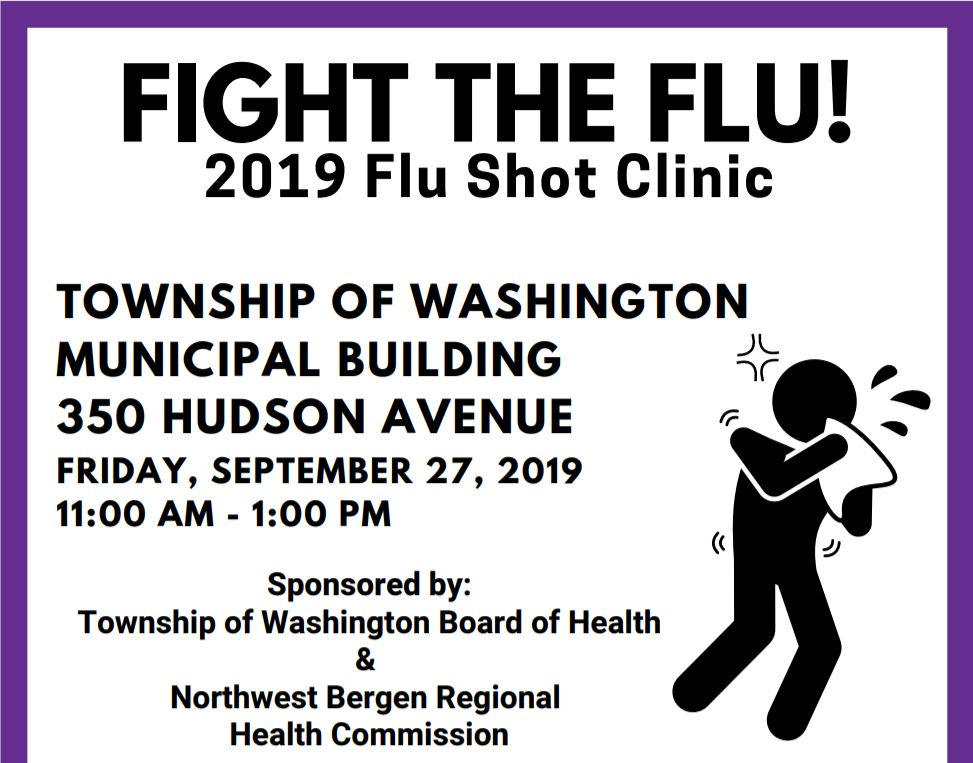 2019 Flu Shot Clinic Image link to flyer